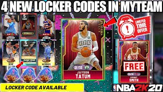 FREE GALAXY OPAL JAYSON TATUM LOCKER CODE + 4 NEW LOCKER CODES FOR OPALS + PACKS IN NBA 2K20 MYTEAM