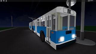 ROBLOX trolleybus and suspended railway ride!