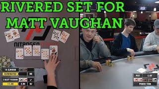 Poker Time: BRUTAL Beat when Matt Vaughan Rivers a Set