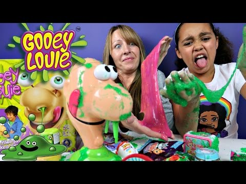 Thumbnail: GROSS Gooey Louie Toy Challenge Game - Slime Baff Boogers - Surprise Toys For Kids