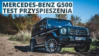 Mercedes-Benz G500 4.0 V8 422 KM (AT) - acceleration 0-100 km/h