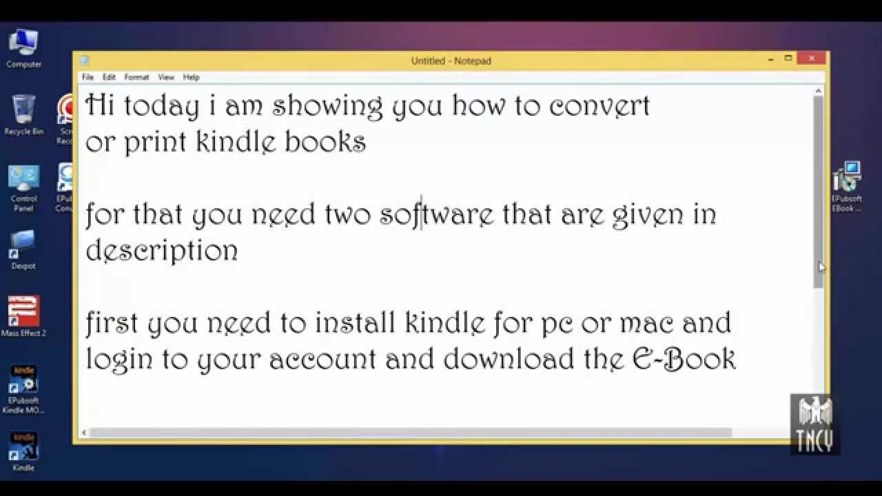 How To Print Or Convert Kindle Books PDF