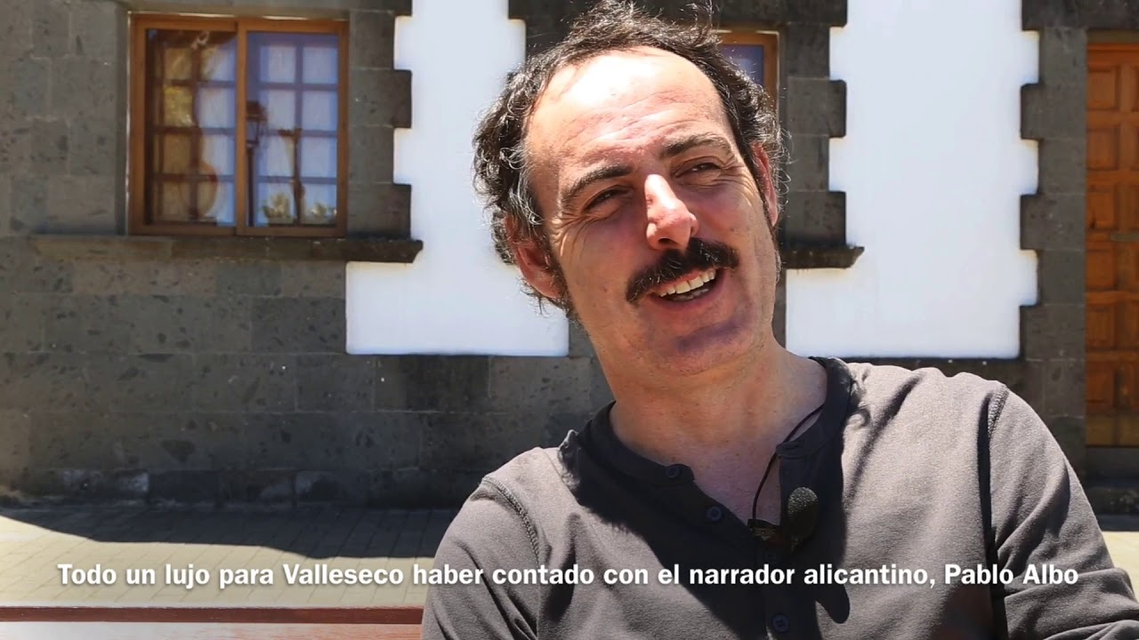 Valleseco contó con el narrador oral Pablo Albo - YouTube