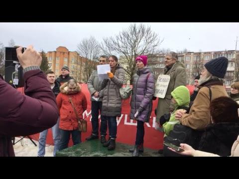 Митинг в поддержку Светланы Прокопьевой и свободы слова, Псков, 10 февраля 2019