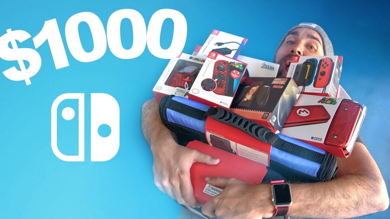 $1000 Nintendo Switch Accessories Haul