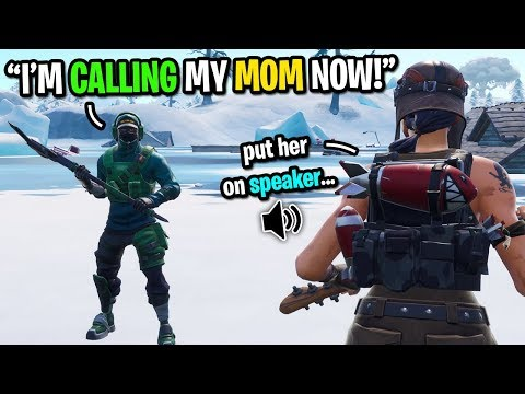 This kid calls his MOM after I get my HIGHEST kill game on Fortnite... (hilarious)