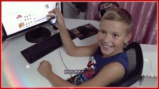 VLOG: НОВАЯ КОМНАТА ЭДВИНА ( ОБЗОР ) + играет в компьютер + подключили интернет УФА 2016