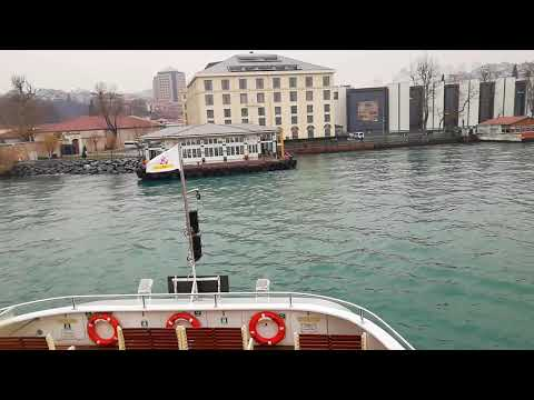 small ship entering land Istanbul Bosphorus