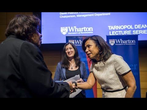 Tarnopol Dean's Lecture: Edith Cooper, Global Head, Human Capital, Goldman Sachs