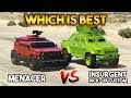 GTA 5 ONLINE : MENACER VS INSURGENT PICK UP CUSTOM (WHICH IS BEST?)