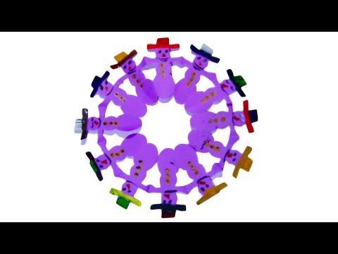 How to make christmas santa paper circle - funny christmas paper crafts