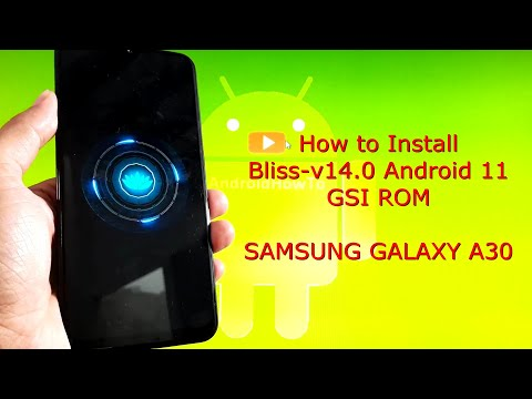 Bliss v14.0 for Samsung Galaxy A30 Android 11 GSI ROM