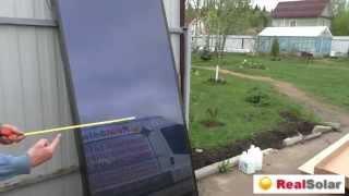Обзор плоского солнечного коллектора Sunrain FPC1200 D
