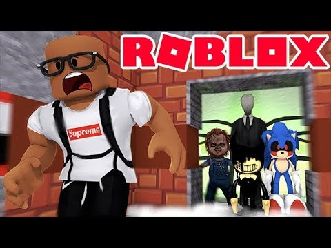 FINDING MONSTERS IN THE SCARY ELEVATOR IN ROBLOX
