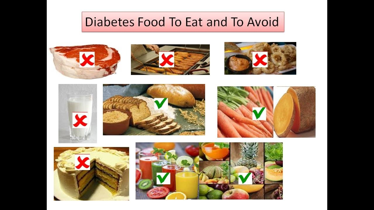 Diabetic Or Diabetes Food To Eat And To Avoid Youtube