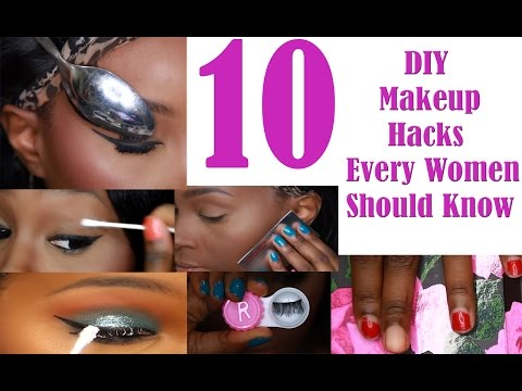 10 Makeup/Life Hacks every women should know! Collab with Platinum D + bloopers