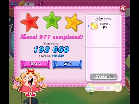 Candy Crush Saga Level 977     ★★★   NO BOOSTER