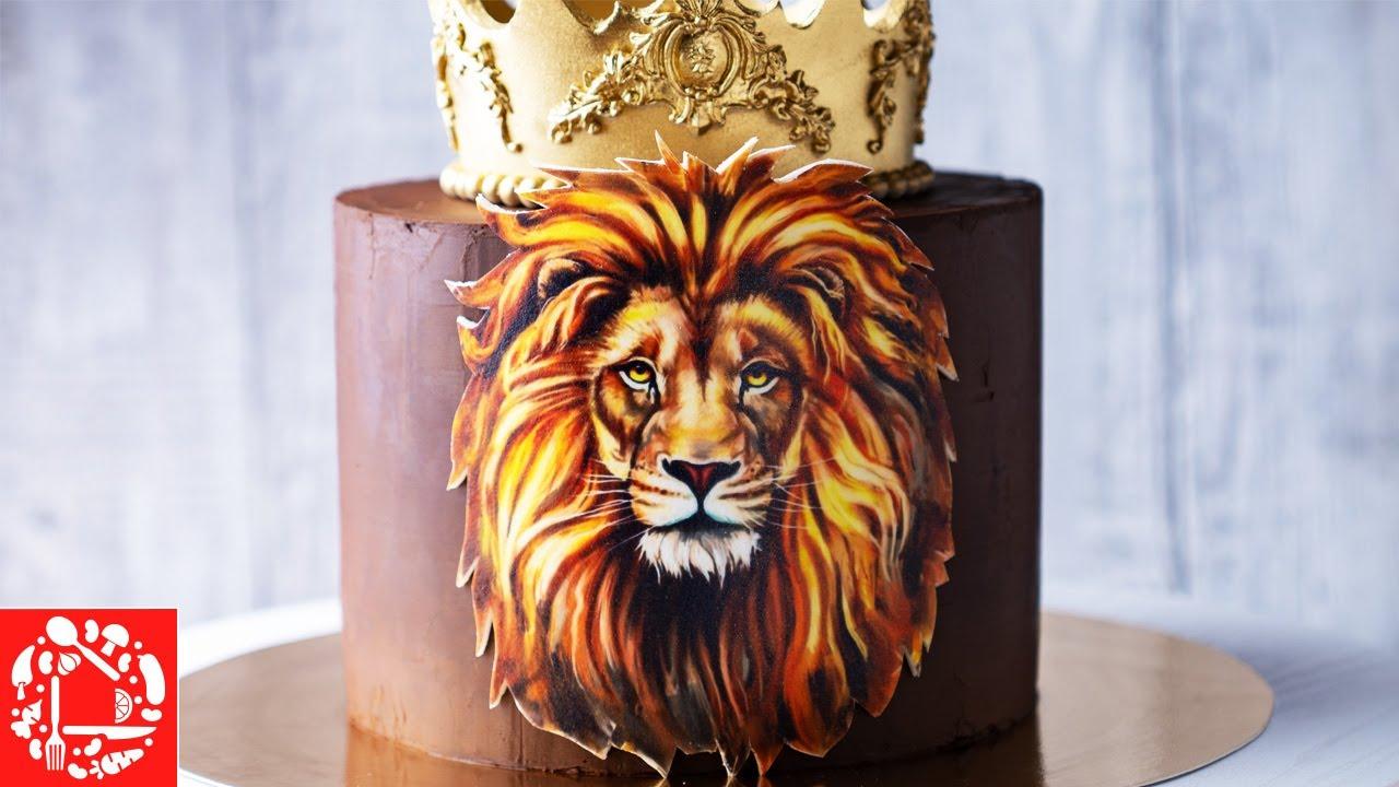 Торт для Мужчины «Король ЛЕВ». Как украсить торт своими ...