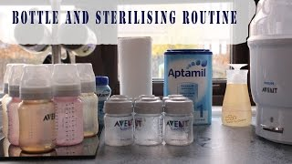 Bottle Sterilising Routine