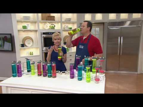Contigo Set of 2 Fruit Infusion Water Bottles on QVC