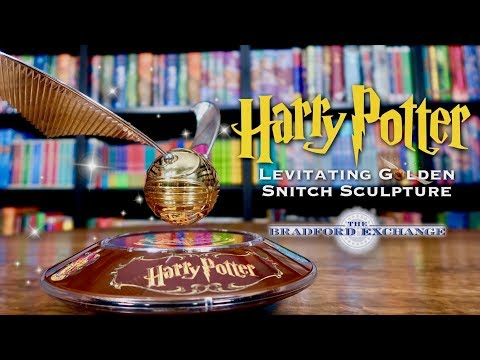 HARRY POTTER LEVITATING GOLDEN SNITCH SCULPTURE UNBOXING | The Bradford Exchange