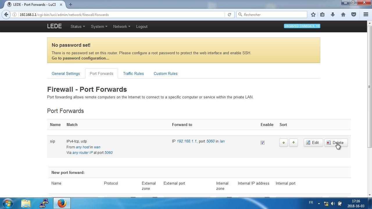 openwrt lede firewall شرح فتح بورت في نظام