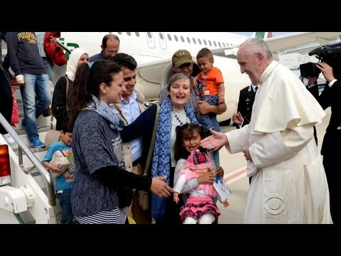 Pope transforms lives of 12 Syrian refugees