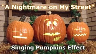 Nightmare on My Street - Singing Pumpkins Animation Effect