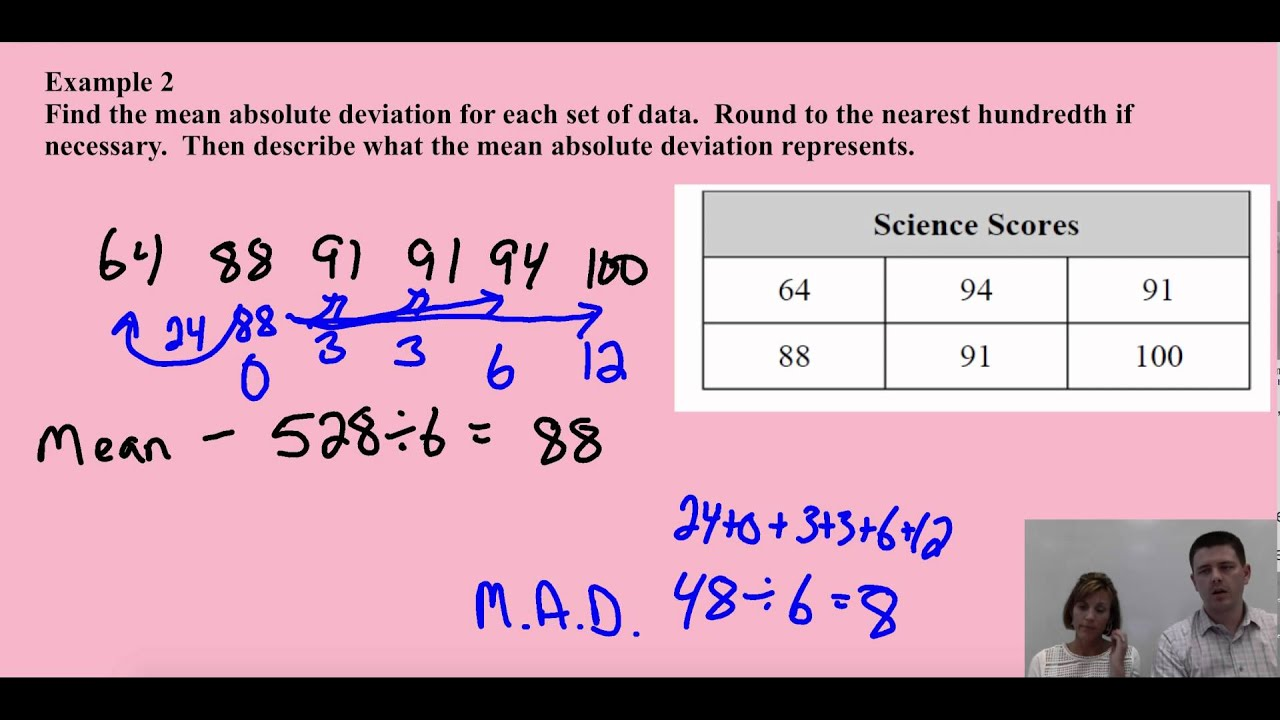Mean Absolute Deviation Lesson Video Youtube