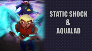 Drawing Time: Static Shock and Aqualad fan art