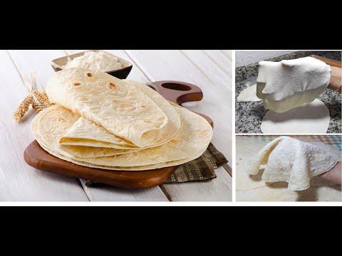 خبز التورتيلا السريع و الناجح لتحضير الطاكوس والسندويتشات