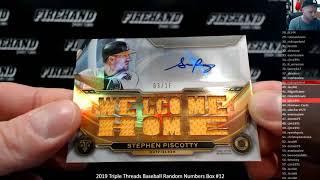 2019 Triple Threads Baseball Random Numbers Box #12 ~ 12/4/19