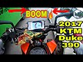 2017 KTM Duke 390   Ride and short review   Real beast   Pickup test