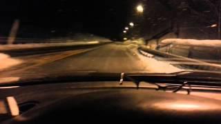 SST90 DEMO 1. 4x27Watt. 73mm aluminium reflector. In a dark Norwegian winter night