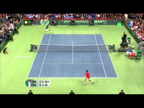 Incroyable Coup droit de Monfils /  Monstrous forehand of Monfils against Djokovic