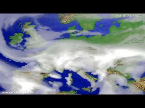 Cloud forecast Europe 2018-03-15