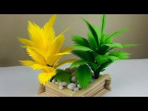 Paper Tree Making   Paper Tree   Palm Tree DIY   Tree Making Craft   Paper Craft s For School