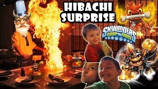 Fryno & Fire Bone Hot Dog Surprise @ Hibachi Restaurant (Skylanders Swap Force Wave 4)