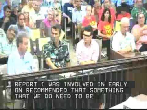 August 5, 2013 Kauai County Council Yukimura Questions Plant Biologist.