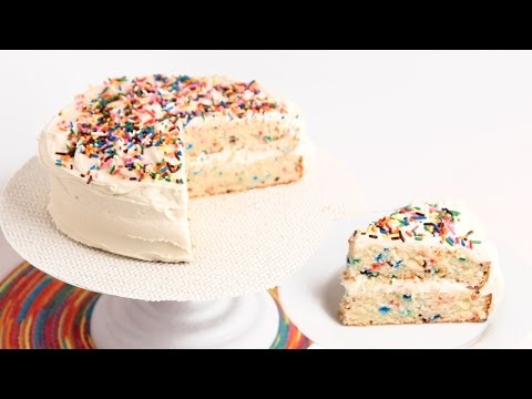Confetti Birthday Cake Recipe - Laura Vitale - Laura in the Kitchen Episode 796