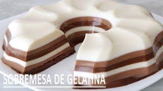 Sobremesa de Gelatina – Pudim Listrado sem Forno