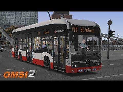 Electric Bus in Hamburg, Route 111 | OMSI 2