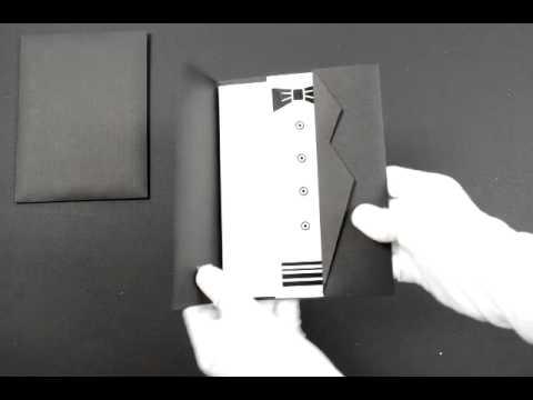 D-4989, Black Color, Odd Shape Cards, Designer Multifaith Invitations, Interfaith Wedding Cards