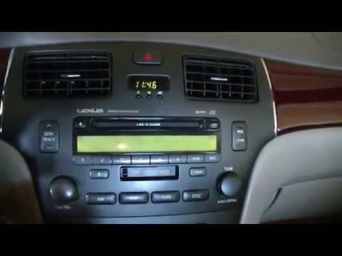 2004 Lexus es330 radio replacement with aftermarket double din head unit