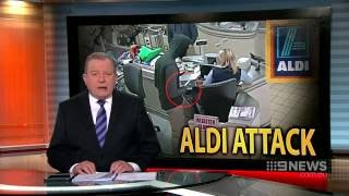Nine News. ALDI Attack (By African Migrant in Melbourne)