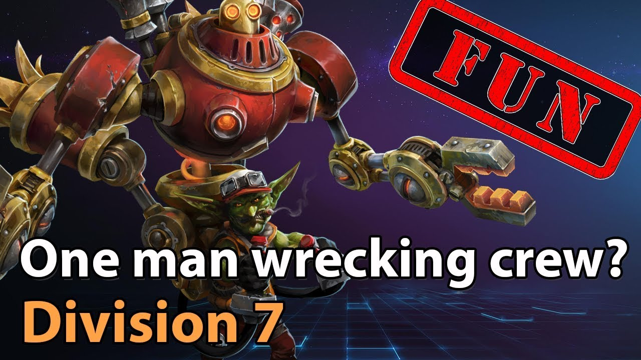 ► GazLOL - One man wrecking crew! - Division 7 - Heroes of the Storm Amateur Play