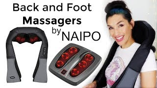 Naipo Shoulder and Foot Massagers Review and Demo