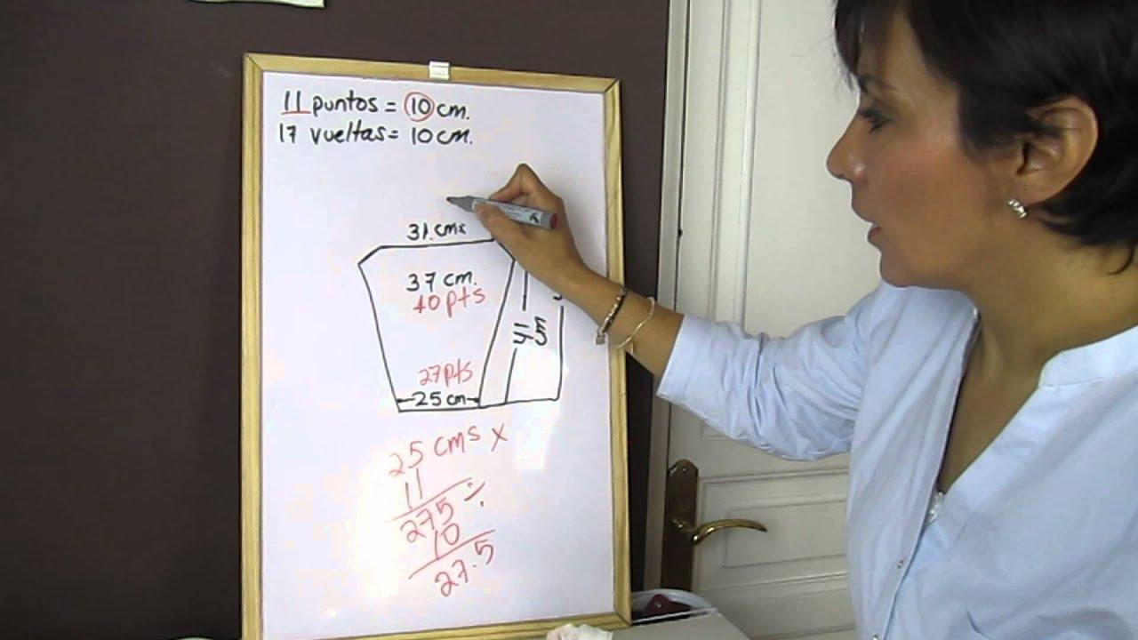 Cómo hacer un patrón para mangas con dos agujas - YouTube