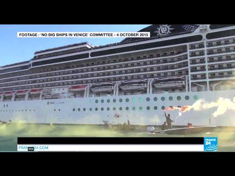 Venetians target 'monster' cruise ships as waterways crumble