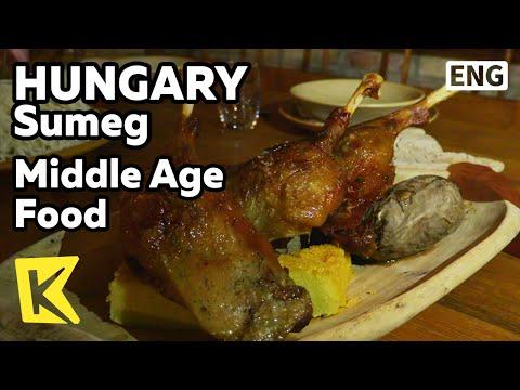 【K】Hungary Travel-Sumeg[헝가리 여행-쉬메그]동굴에서 맛보는 중세시대 요리/Middle Age Food/Cave/Traditional food